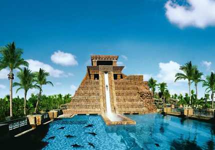 Leap of Faith slide at The Reef Atlantis