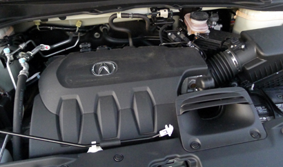 The 3.5-liter V6 of a 2013 Acura RDX AWD Tech