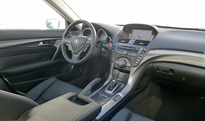 Interior view of the 2013 Acura TL SH-AWD