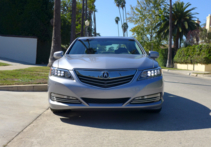 A front view of the 2016 Acura RLX Hybrid