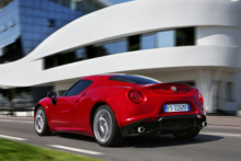 Alfa Romeo 4C Rear Three Quarter View