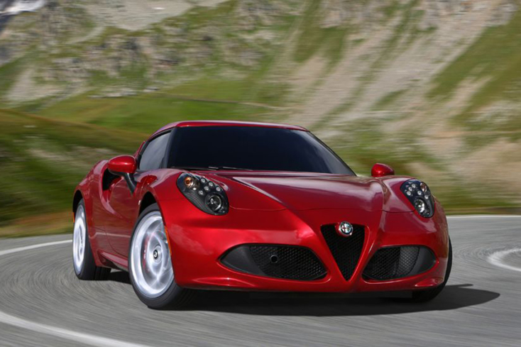 Alfa Romeo 4C Front Three Quarter Action Shot