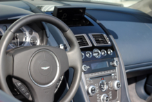 An interior view of the 2013 Aston Martin DB9 Volante