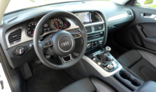 The interior of the 2014 Audi A4 2.0T quattro manual
