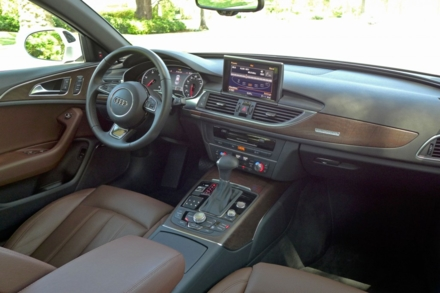 2014 Audi A6 TDI interior and console