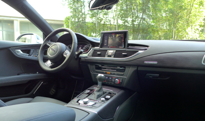 An interior view of the 2014 Audi RS 7 quattro Tiptronic