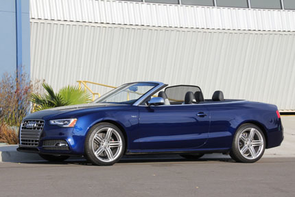 Audi S5 top down left side view