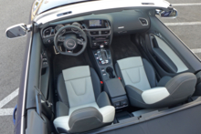The gorgeous, two-tone leather seats of the 2014 Audi S5 Cabriolet