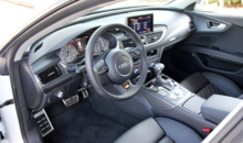 The interior of the 2014 Audi S7 quattro S tronic