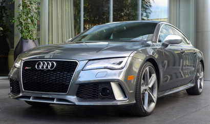 Front view of the 2014 Audi RS 7 Quattro Tiptronic