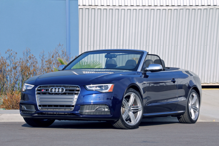 Audi S5 Cabriolet top down