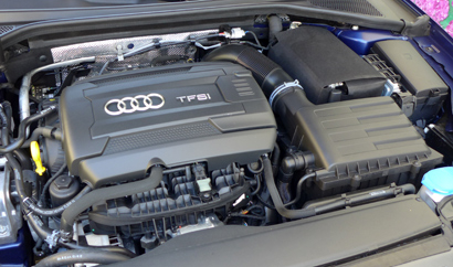 The 2.0-liter turbocharged 4-cylinder of the 2015 Audi A3 2.0T