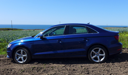 A side view of the 2015 Audi A3 2.0T
