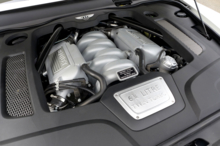 The 6.75-liter V8 engine of the 2016 Bentley Mulsanne