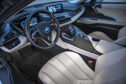 The interior of the BMW i8