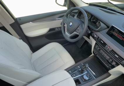 The interior of the BMW X5