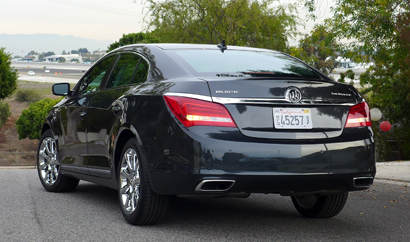 Rear view of the 2014 Buick LaCrosse Premium