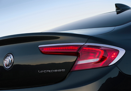 Rear detail of the 2017 Buick LaCrosse
