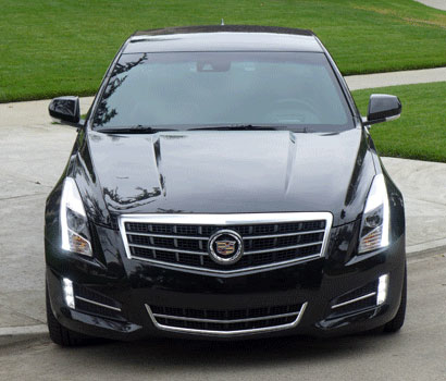 A front view of the 2013 Cadillac ATS 2.0T Premium Collection