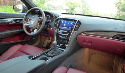 Interior view of the 2013 Cadillac ATS 2.0 Premium