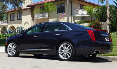 A rear view of the 2013 Cadillac XTS AWD Premium Collection