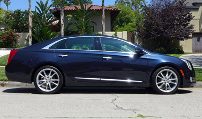A side view of the 2013 Cadillac XTS AWD Premium Collection