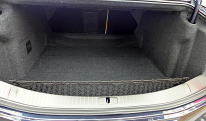 The trunk of the 2013 Cadillac XTS AWD Premium Collection
