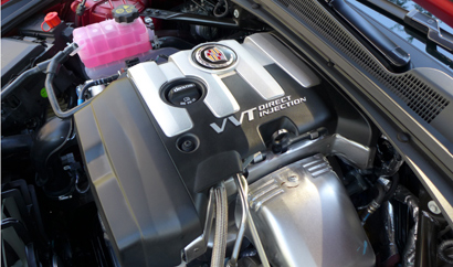The turbocharged 2.0-liter inline-4 of the 2014 Cadillac CTS 2.0T Premium Collection