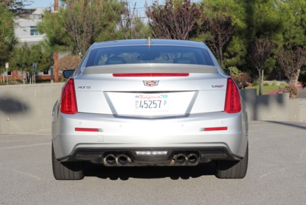 Back view of the 2016 Cadillac ATS-V Coupe RWD Manual