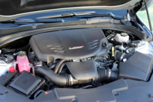 The 3.6-liter V6 engine in the 2016 Cadillac ATS-V Coupe RWD Manual
