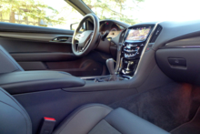 An interior view of the 2016 Cadillac ATS-V Coupe RWD Manual
