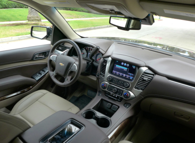 The dashboard of 2015 Chevrolet Suburban 4WD 1/2 Ton LT