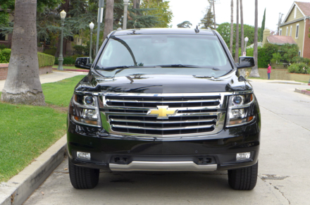 A front view of the 2015 Chevrolet Suburban 4WD 1/2 Ton LT