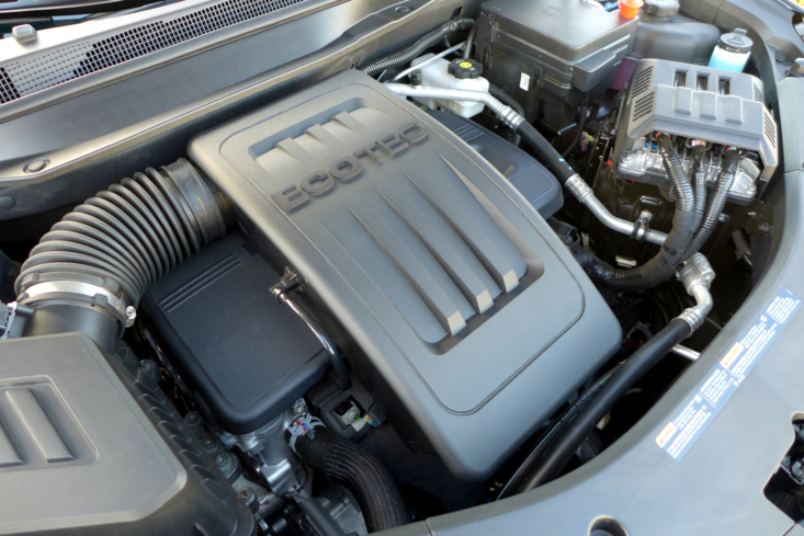 The 2.4-liter DOHC 4-cylinder engine in the 2016 Chevrolet Equinox FWD LT