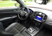 Black interior of the 2015 Chrysler 300S