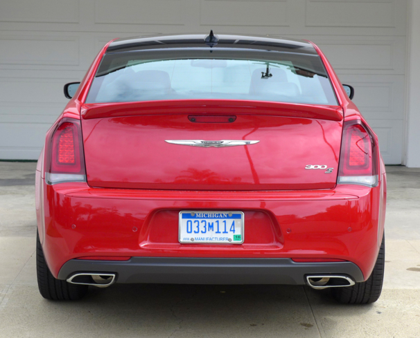 The trunk of the 2015 Chrysler 300S