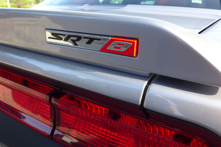2014 Dodge Challenger SRT badge detail