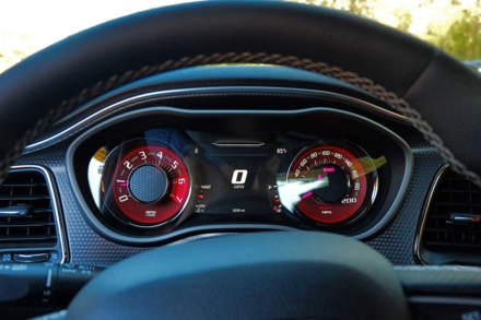 2015 Dodge Challenger SRT Hellcat gauges