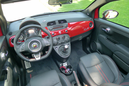 2013 Fiat 500 Abarth Cabrio interior