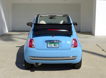 2015 Fiat 500C 1957 Edition rear view