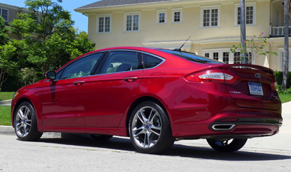 2013 Ford Fusion Titanium AWD rear view