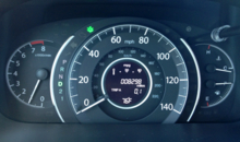 2014 Honda CR-V EX-L AWD head-up display