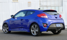2013 Hyundai Veloster Turbo A/T rear view
