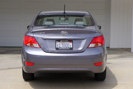 2015 Hyundai Accent rear view