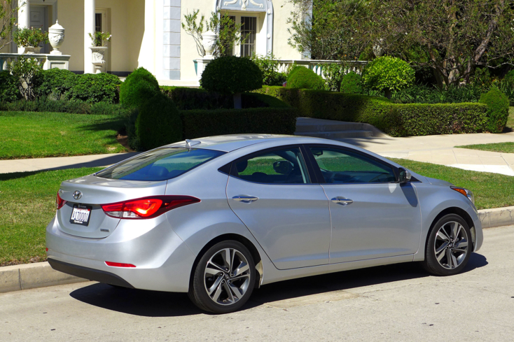 2015 Hyundai Elantra back view