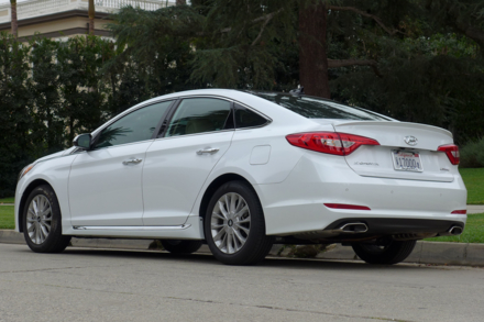 2015 Hyundai Sonata back view