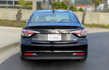 2016 Hyundai Sonata Hybrid Limited rear view