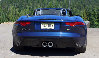 2014 Jaguar F-TYPE S rear view