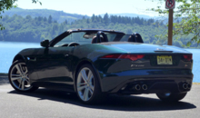 2014 Jaguar F-TYPE V8 S rear view