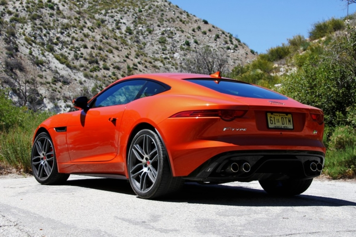 2015 Jaguar F-Type R Coupe rear view